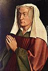 Jan van Eyck The Ghent Altarpiece The Donor's Wife [detail] painting